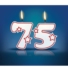 Birthday candle number 75 vector