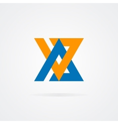 Logo combination of a a and v letter vector