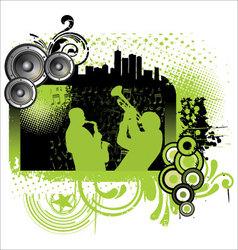 Grunge jazz music background vector