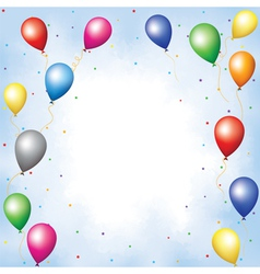 Colourful balloons and confett vector