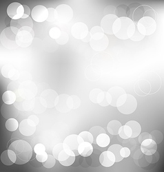 Silver elegant abstract background with bokeh vector