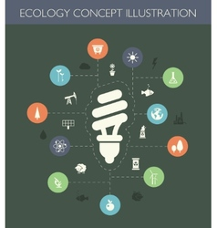 Ecological flat design composition with long sha vector