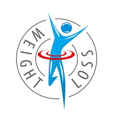 Logo running man for weight loss vector