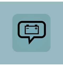 Pale blue accumulator message icon vector