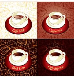 Set of coffee vector