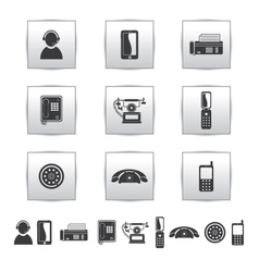 Movie icons film and square gray vector