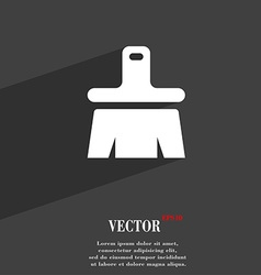 Paint brush artist icon symbol flat modern web vector
