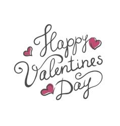 Happy valentines day handmade calligraphy vector