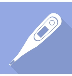 Medical thermometer web icon vector