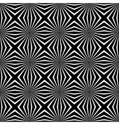 Psychedelic black and white abstract background vector