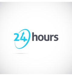 Twenty four hours symbol icon or signboard for vector