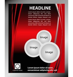 Red flyer template vector