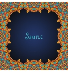 Ornate frame border with a lot of copyspace vector
