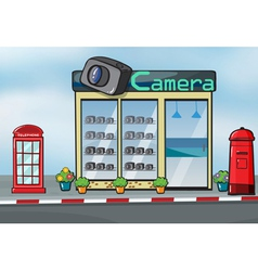 A camera store and letterbox vector