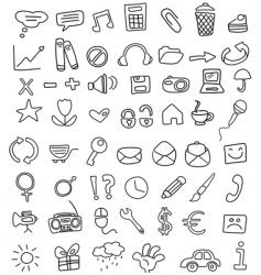 Icon doodles vector