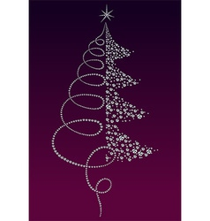 Luxury christmas tree vector