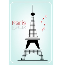 Black eiffel tower vector