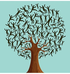 Isolated diversity tree people vector