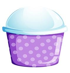 An empty disposable cupcake container vector