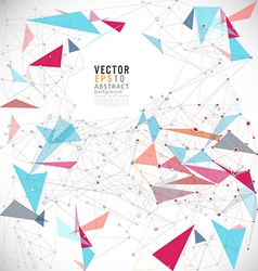 Abstract mesh colorful background lines and shapes vector