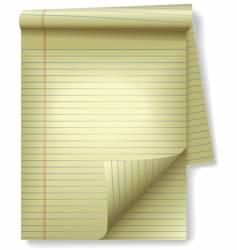 Yellow legal pad vector