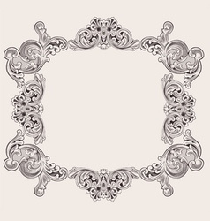 Royal frame decoration vector