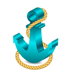 3d anchor with rope vector