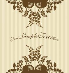 Vintage flowers with stripes vector