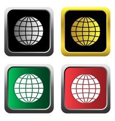 Globe icons set vector