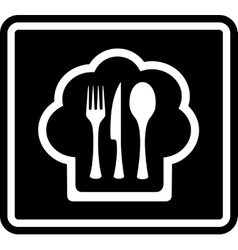 Black cooking icon vector