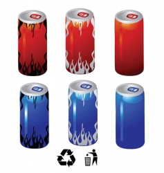Drink cans vector