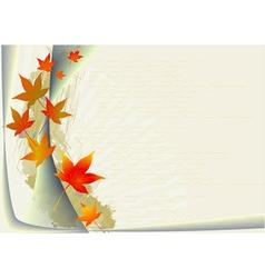 Autumnal leaf background vector