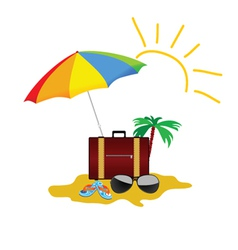 Beach stuff color on a white background vector