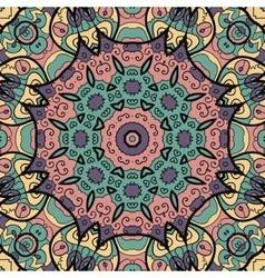 Seamless floral mandala vector
