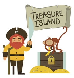 Treasure island clip art vector