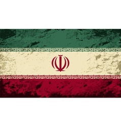 Iranian flag grunge background vector