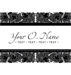 Small title frame and pattern vector