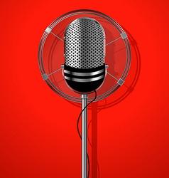 Classic radio microphone vector