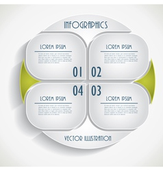 Abstract infographic business template vector