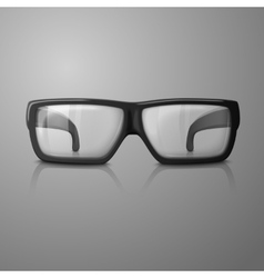 Realistic glasses with transparent glass vector