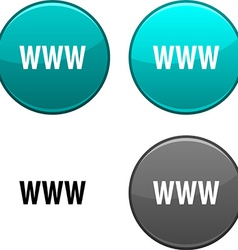 Www button vector