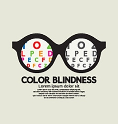 Color blindness concept vector
