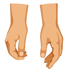 Two hands vector