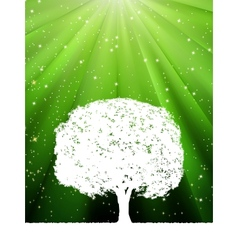 Green burst tree vector