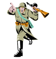 World war two soviet soldier vector