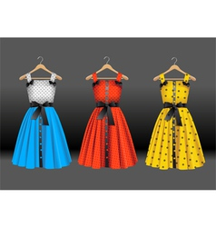 Fashion dresses vector