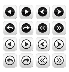 Previous next arrows buttons set vector