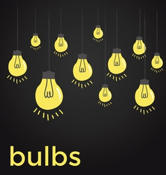 Bare bulbs hanging on strings vector