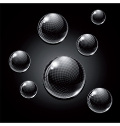 Black glass balls vector