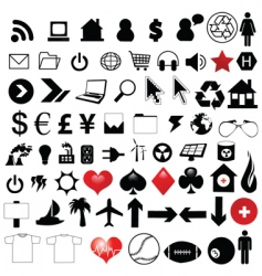 Assorted icons vector